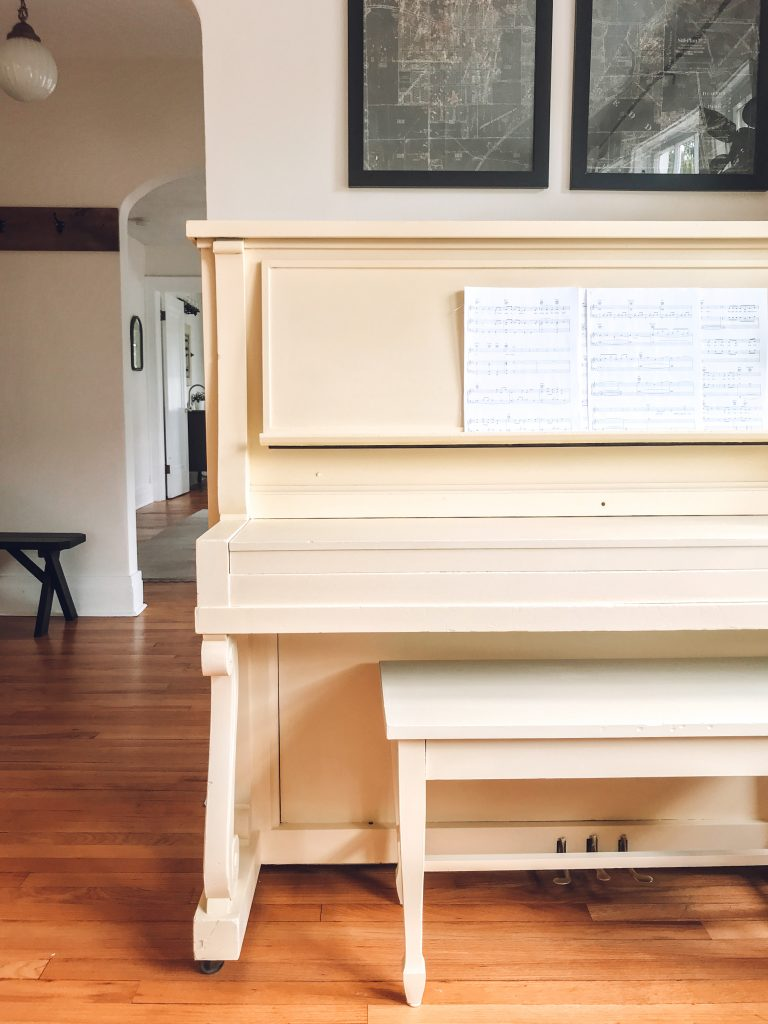 Painted Vintage Upright Piano